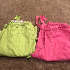 Lot of two koi scrub pants